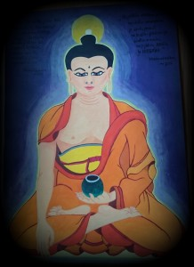 Buddha Sakyamuni, tempera painting on paper, 2015