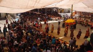 Čhamové tance jsou nedílnou součástí tibetského buddhismu. Ladak 2014