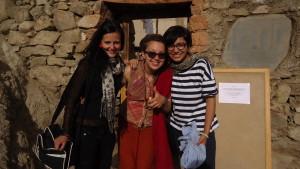 Já se svými drahými přítelkyněmi Ifou a Nuri. Ladak 2014