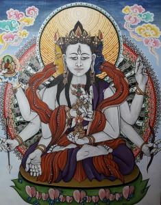 Ušníšavidžaja, ženský buddhistický bódhisattva, jedna z emanací Bílé Táry. Je strážkyní buddhovské moudrosti, jež má sídlit v bulce na hlavě Probuzeného (ušníša). 2018