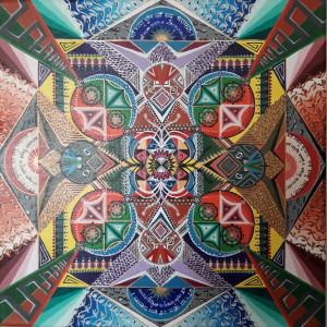 Čatur garuda túla mandala. Tato mandala pracuje v rozložením barev v rámci barevného spektra. Rovnováhu, balanc (túla) zde představují dvě vzájemně se protínající sféry. Barva v jedné ze sfér pak zákonitě protileží barvě ve sféře druhé.  Na centrální část mandaly dohlíží čtveřice Garudů (čatur garuda). Garuda neboli 'Požírač' je mýtický pán ptáků a zapřísáhlý nepřítel hadů a Nágů. 2016