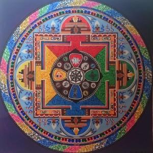 Avalokitéšvara mandala, v níž se promíta tanrická symbolika. 2015